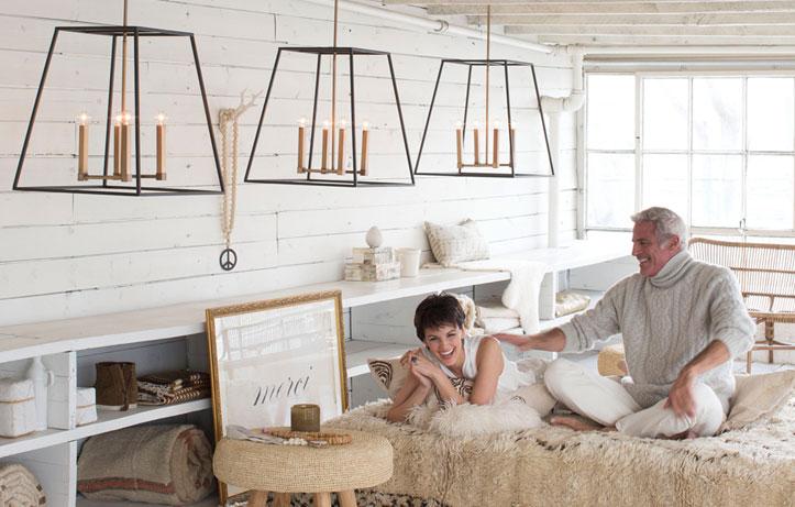 Bedroom lighting by Hinkley