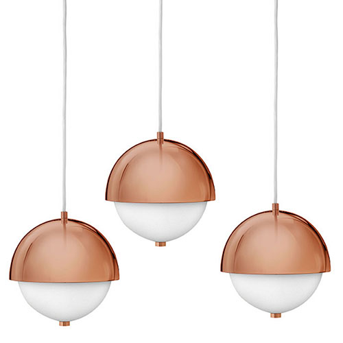 new lighting trends. Hinkley: 2-Light Pendant In Deep Rose Gold With Etched Opal Glass Shade. New Lighting Trends R
